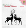 Nellies Choice Christmas Silhouette Clear stamps Rentiere CSIL006