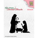 Nellies Choice Christmas Silhouette Clear stamps Krippe 2 CSIL007