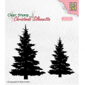 Nellies Choice Christmas Silhouette Clear stamps Tannenbäume CSIL009