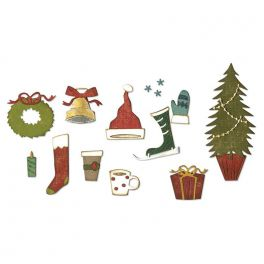 Sizzix Thinlits Die Set - 12PK Festive Things 664191 Tim Holtz