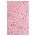 Sizzix 3-D Textured Impressions Embossing Folder - Hearts 663628 Courtney Chilson