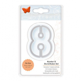Tonic Studios Die - Essentials Number 8 Die and shaker set 2828E
