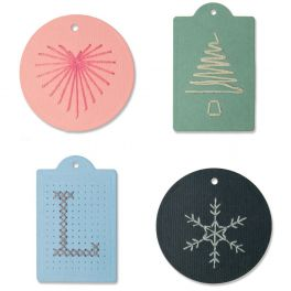 Sizzix Thinlits Die Set 6PK - Stitched Tags