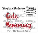 Crealies Wordzz with Shadow Gute Besserung